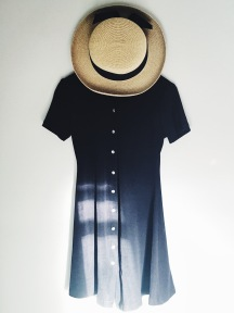 thrift black retro vintage grunge dress madeline hat fashion