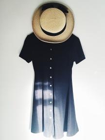 thrift black retro vintage grunge dress madeline hat fashion