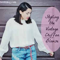 My December Obsession: The Vintage Chiffon Blouse
